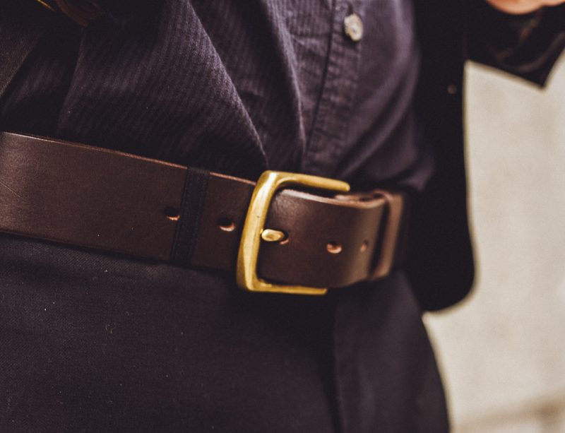 ORIGINAL BELT w BRASS HARDWARE
